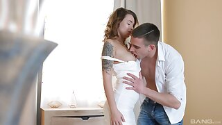 Pretty girl Mia Ferrari licked and dicked unchanging on a lounger