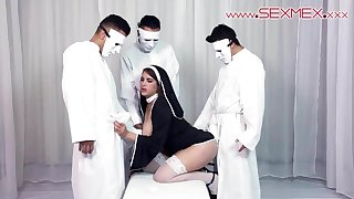 Hot Latina Alexandra Paris baptized into the cult of sexmex