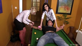 Femdom face sitting session with Barbara Sweet and Sweet Cat