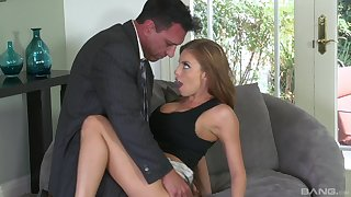 Busty blonde Britney Amber hardcore fucked and swallows cum