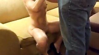 Angry black slut interracial blowjob bukkake facial