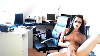 Sandra having fun in the office