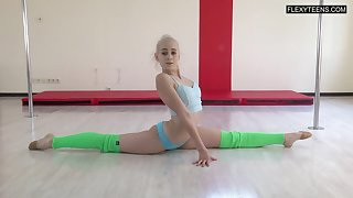 Talented gymnast Dora Tornaszkova gets naked with the addition of shows her perky ninnies