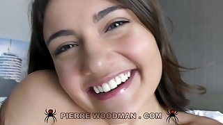 Cute smiley teen Adria Rae everlasting gangbang